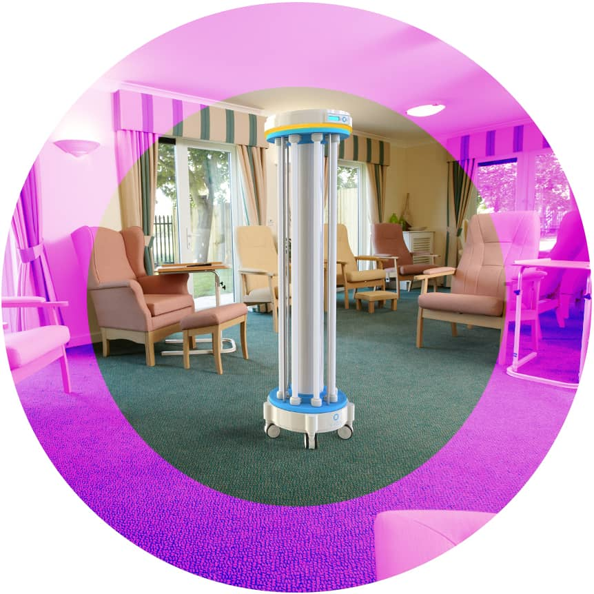 UVC Cleaning, Care homes, Ultra-violet protection system, VIOA