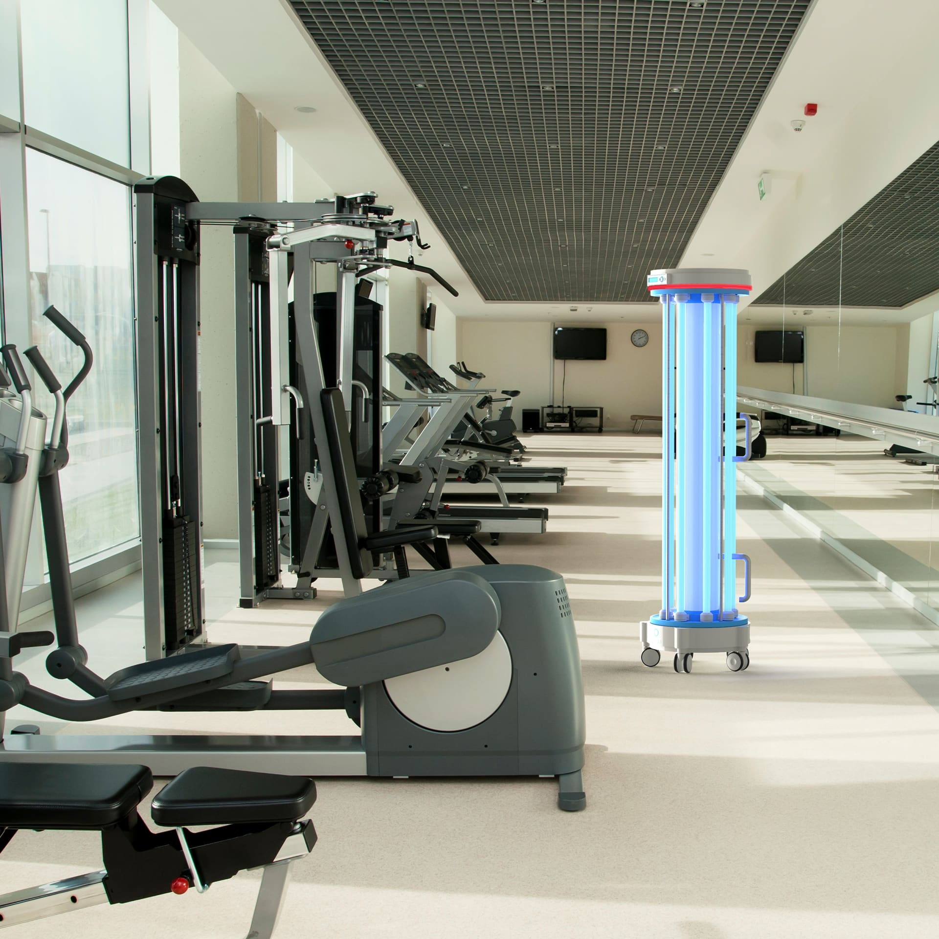 Mobile disinfection, UV cleaning, Gym