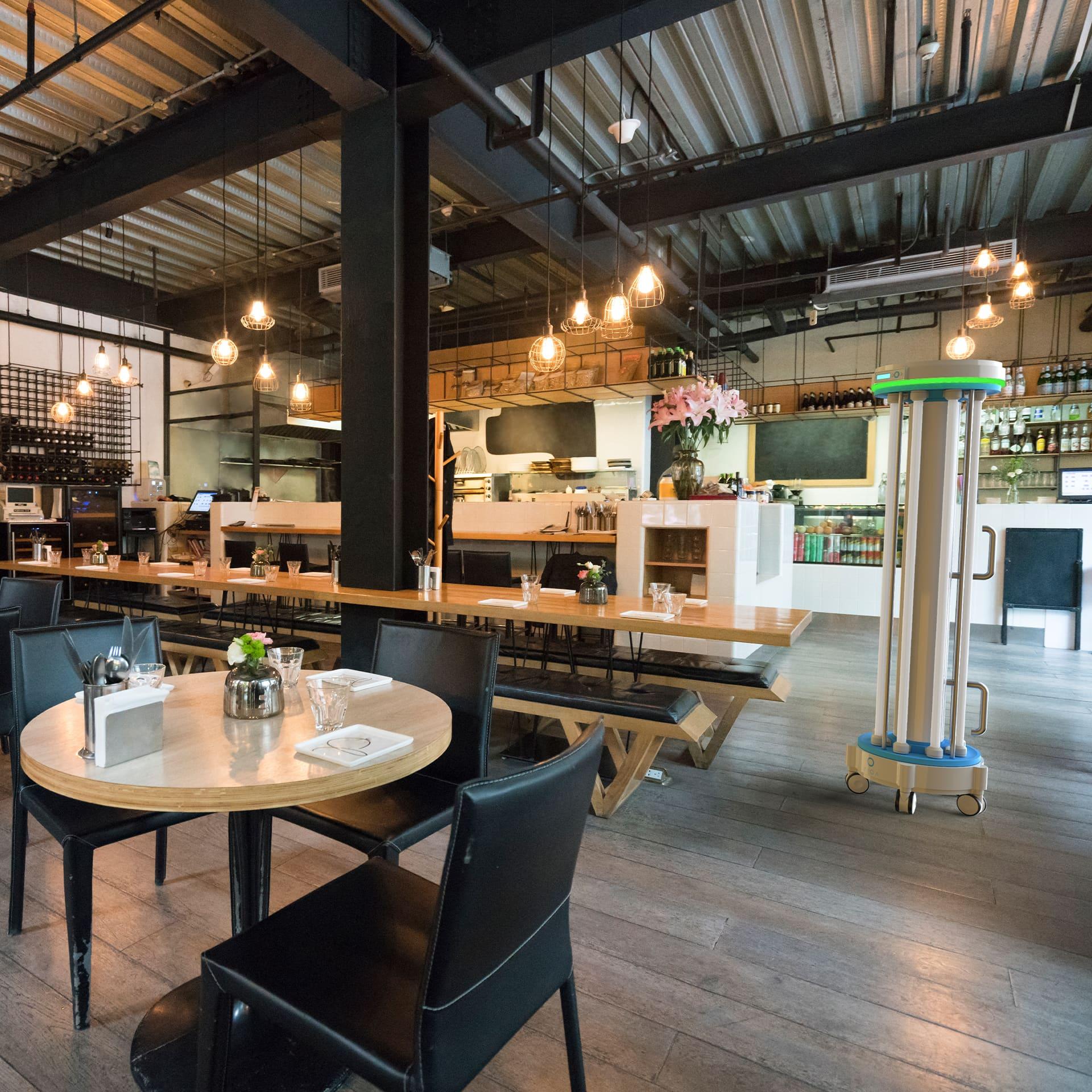 UV cleaning restaurant, UVC disinfection bars